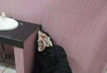 An injured student in the hostel of Jamia Milia Islamia