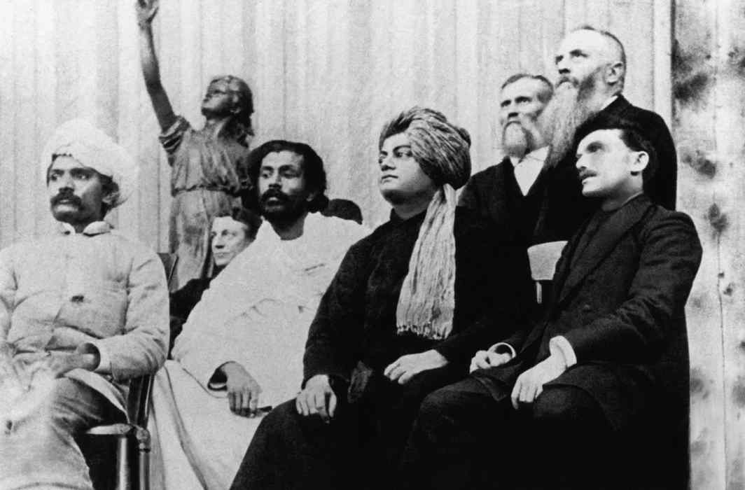 Second pic: Swami Vivekananda at the World Parliament of Religions in Chicago