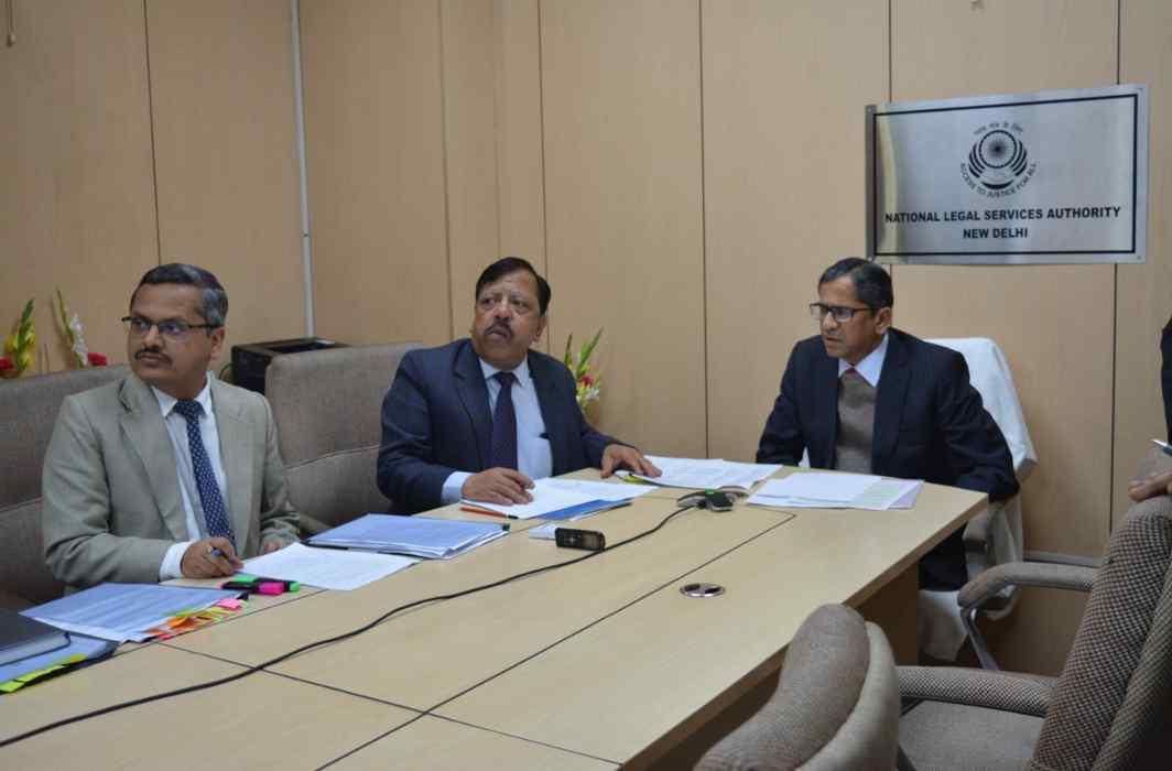 Justice NV Ramana video-conferencing at NALSA