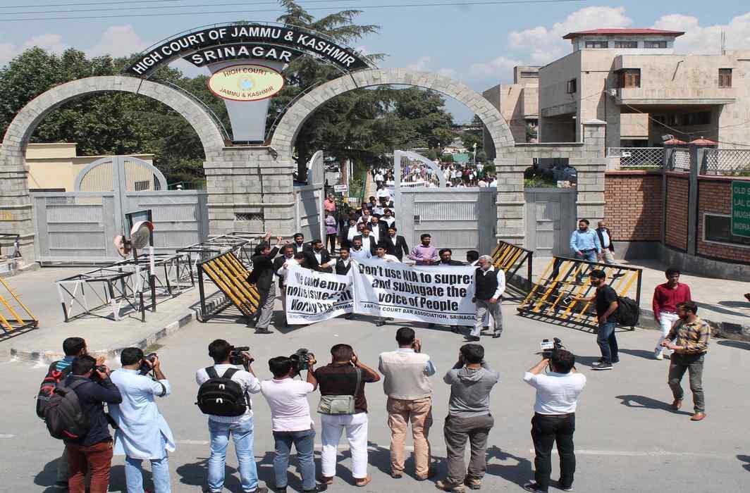 Jammu Lawyers protest