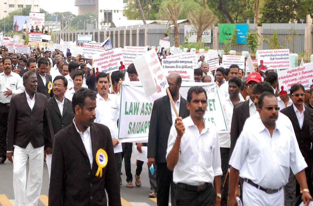 Lawyers' protest