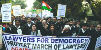 lawyers protest against CAA