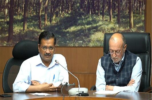 Delhi CM Arvind Kejiriwal and LG Anil Baijal