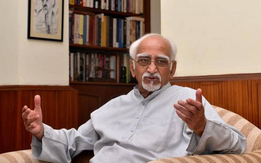 Hamid Ansari, former Chairman of the Rajya Sabha