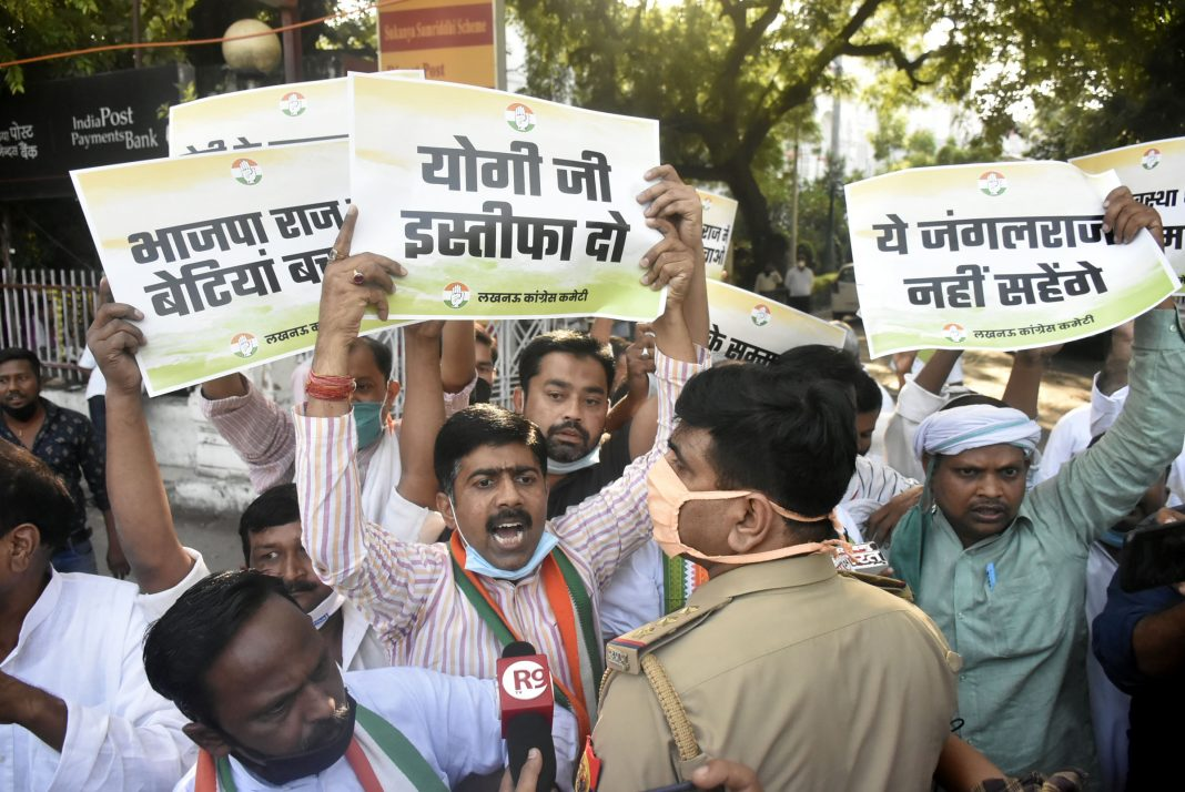 Hathras-Protest-Lucknow