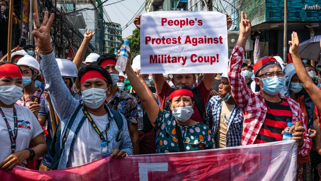 protests-against-the-military-coup-in-Myanmar