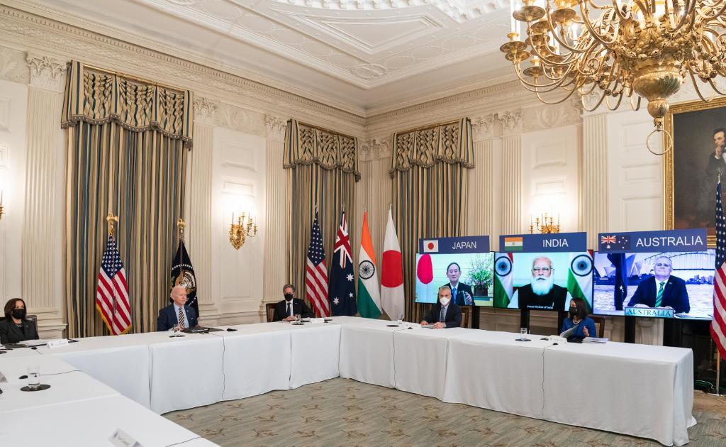 Quad meeting, courtesy Twitter White House