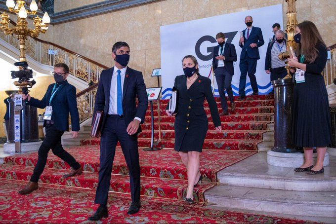 meeting G7 finance minsters Rishi Sunak Twitter