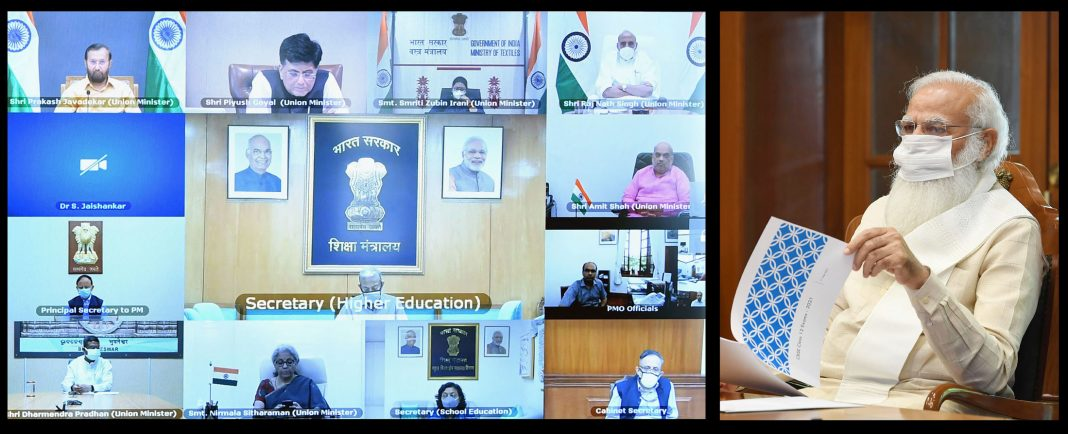 Modi review meeting Class XII Board exams of CBSE, through video conferencing New Delhi June 01, 2021