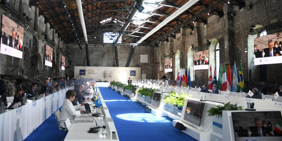 The G20 finance ministers meeting at Venice, Italy G20 Italy Twitter