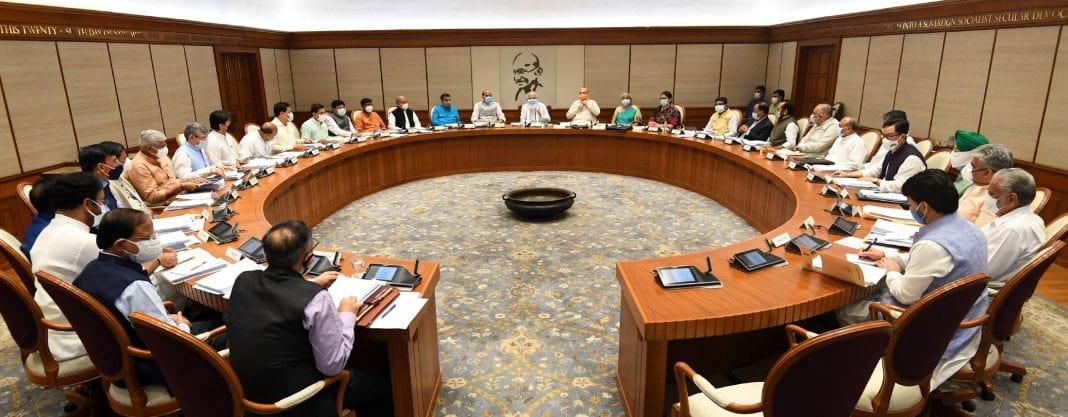 PM-Modi-chairing-a-meeting-of-the-Union-Cabinet-in-New-Delhi-min
