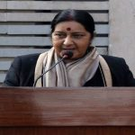 External Affairs Minister Sushma Swaraj is planning evacuation of Indian nationals from Sudan. Photo: UNI