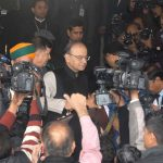 Union Finance Minister Arun Jaitley on arrival to present the General Budget 2017-18 at Parliament House in New Delhi on February 1, UNI