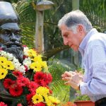 HE STARTED IT ALL: Ratan Tata, former chairman of Tata Sons, pay homage to the founder of Tata Steel Sir J N Tata on his 178th birth anniversary in Jamshedpur.UNI