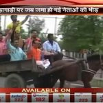 BJP leader takes PM's advice, rides horse cart