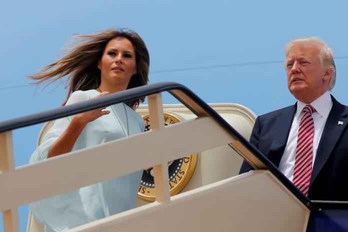 First Lady Melania Trump and Donald Trump