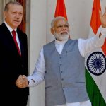 NAMASTE: Prime Minister Narendra Modi receives president of Republic of Turkey Recep Tayyip Erdogan before their meeting at Hyderabad House in New Delhi, UNI