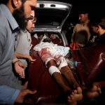 DAILY TOLL: A man injured in the Parachinar blasts is carried to a hospital in Peshawar, Pakistan, Reuters/UNI