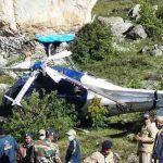 Crew member killed, 2 pilots injured in Helicopter crash in Badrinath.