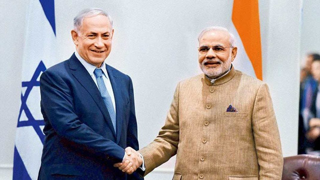 Modi, the first Indian PM to visit Israel