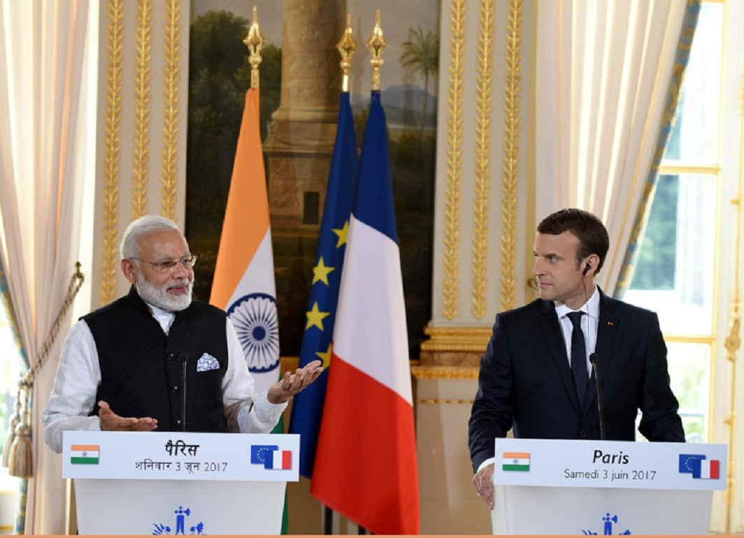 Narendra Modia and Emmanuel Macron