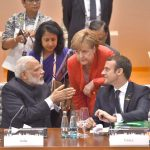 POWER TRIO: Prime Minister Narendra Modi at the Plenary Session of the 12th G-20 Summit, in Hamburg, Germany, UNI