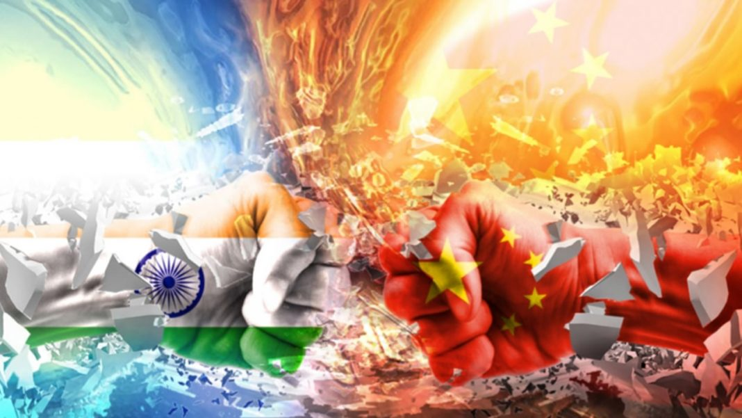India China standoff Graphic