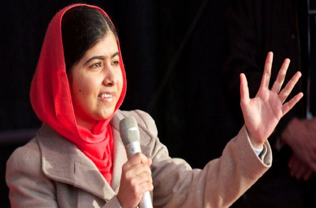 Nobel Peace Prize winner Malala Yousafzai celebrates high
