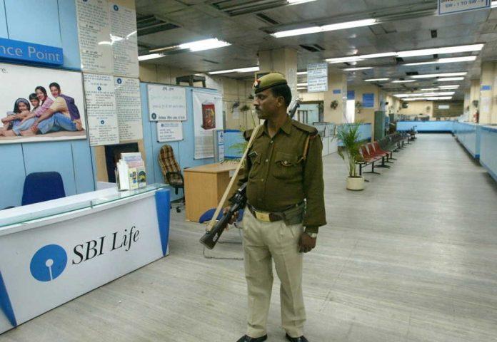 Security guard at Bank