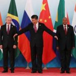 (From left to right:) Brazil's President Michel Temer, Russian President Vladimir Putin, Chinese President Xi Jinping, South African President Jacob Zuma and Indian Prime Minister Narendra Modi prepare to pose for a group photo during the BRICS Summit at Xiamen