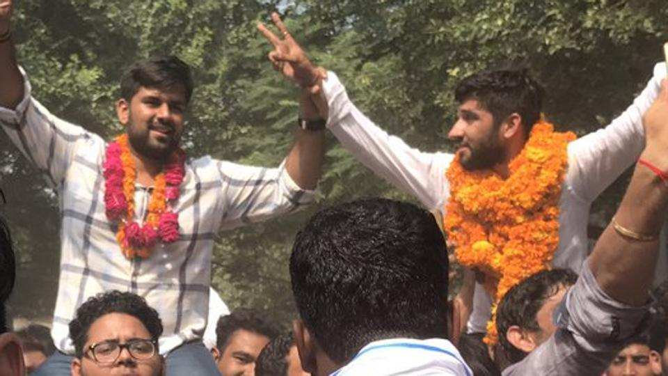 Congress-backed NSUI wins DUSU top posts, setback for BJP student wing