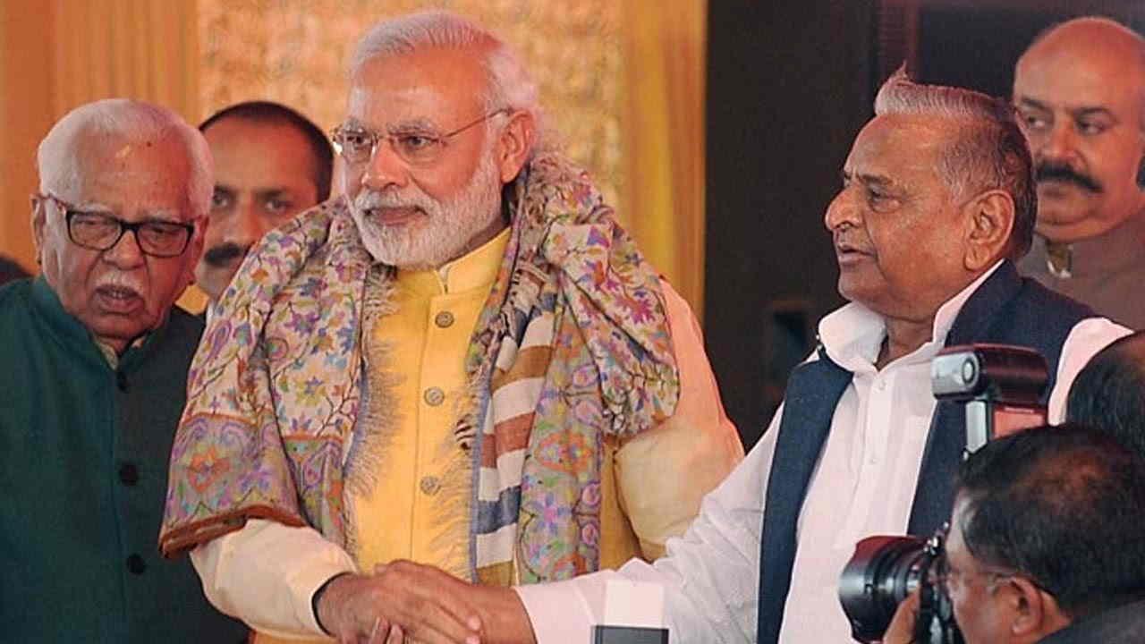 Mulayam singh and Modi