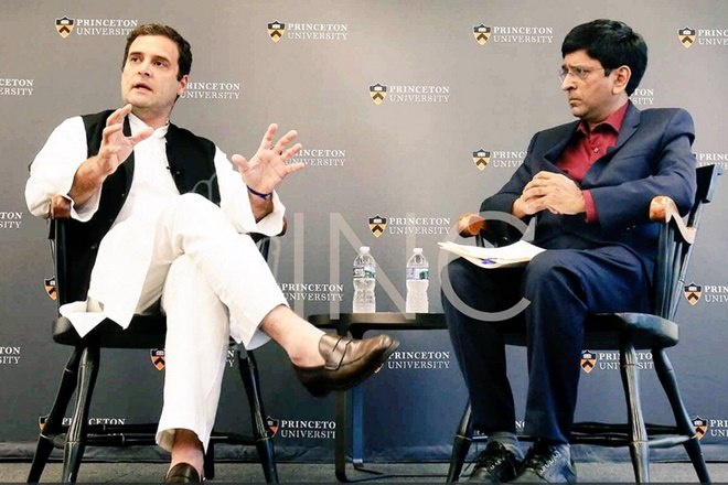 At Princeton University, RaGa lauds NaMo's Make in India but criticizes its implementation
