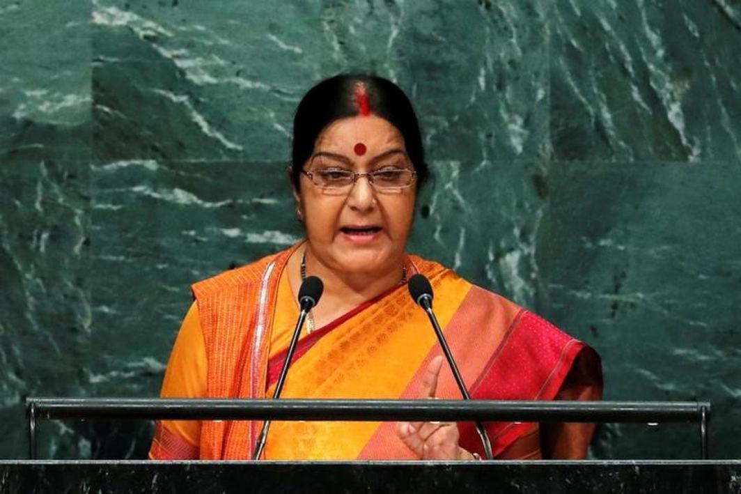 Sushma Swaraj slams Pakistan, says we produce IITs and IIMs, you Jaish and Lashkar