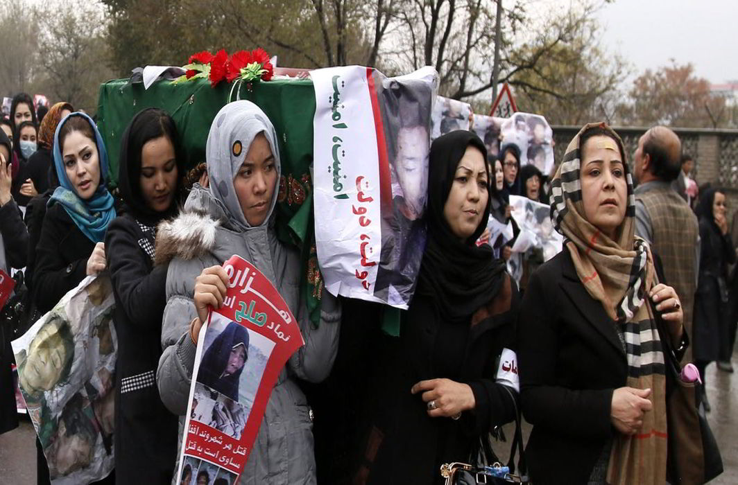 Afghans organise a protest march in Kabul demanding an end to terrorism and establishment of a political system that will ensure their safety. Photo Credit: The Conversation