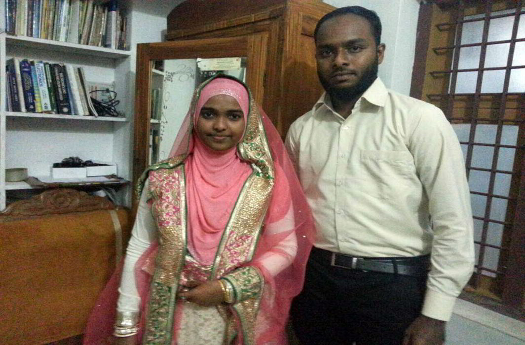 File photo of Hadiya alias Akhila with her husband Shafin Jahan. Photo credit: Agencies