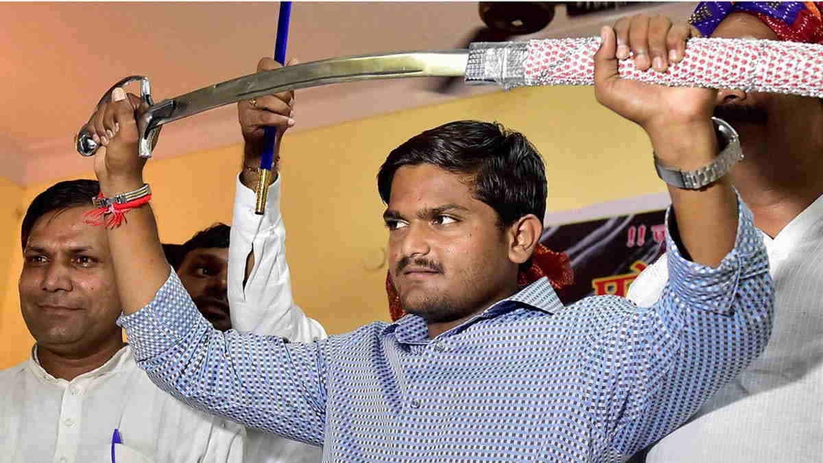 File photo of Patidar Anamat Andolan Samiti founder Hardik Patel. Photo credit: Agencies