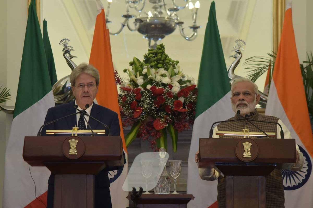 Modi with Italian PM