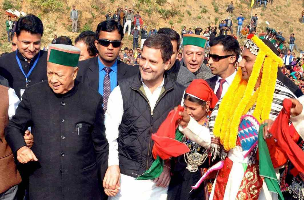 Rahul endorses Virbhadra as party's CM candidate for Himachal polls