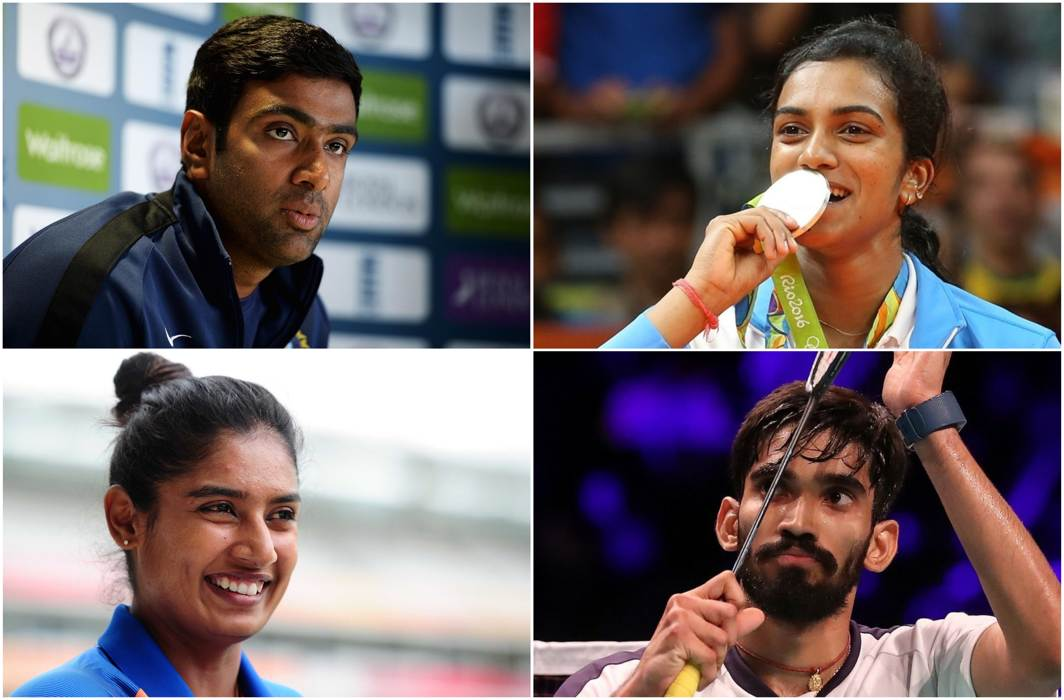 Srikanth, Sindhu, Ashwin and Mithali top awardees at inaugural RP-SG Indian Sports Honors