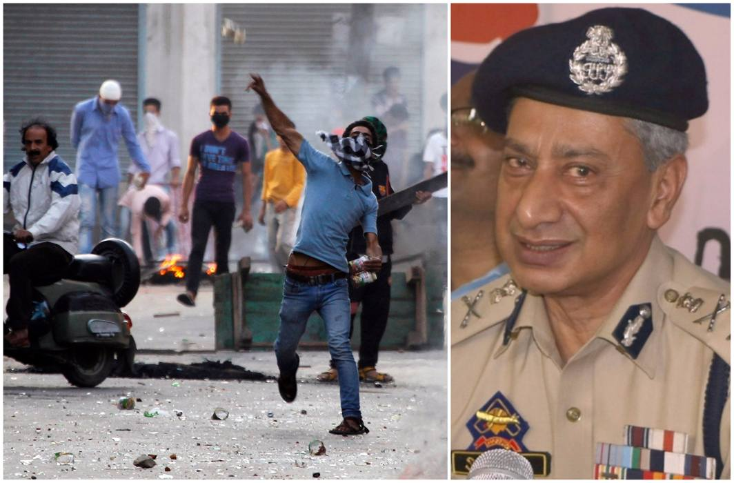Stone-pelting incidents in Kashmir 90% less than 2016: J&K DGP SP Vaid
