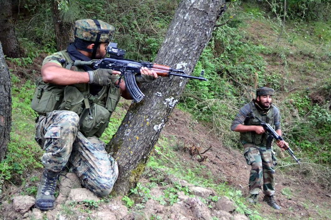 Hours after forces killed two militants in Kashmir, fresh encounters break out