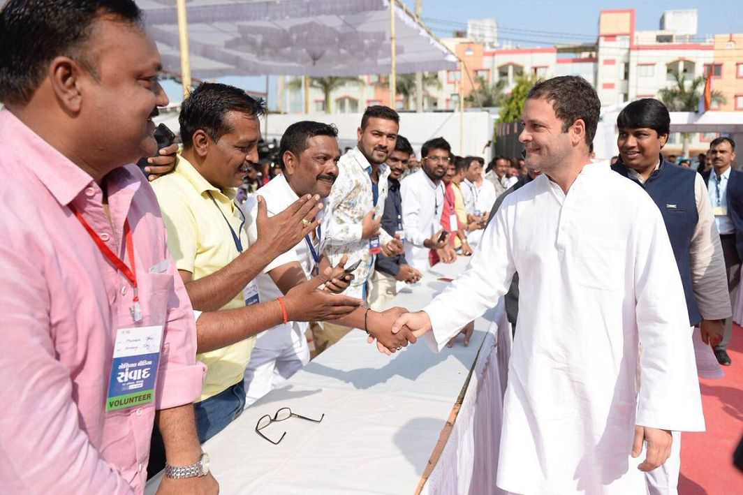 Rahul in Gujarat:Unlike BJP, Congress believes in self-introspection