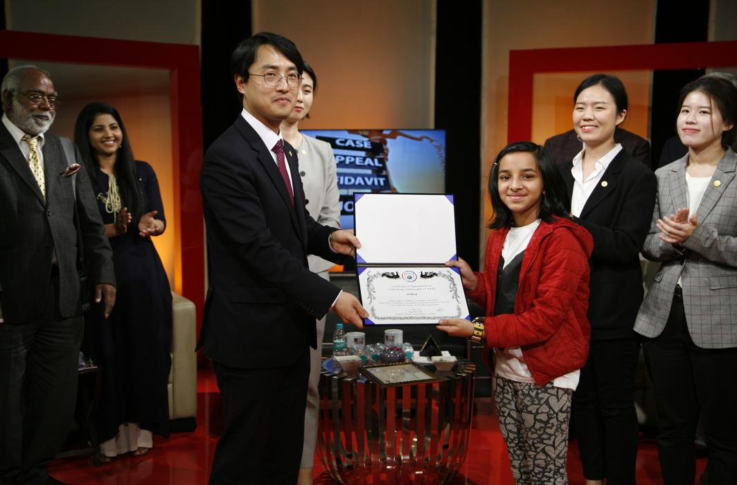 HWPL appoints 3 Delhi children as Little Peace Ambassadors