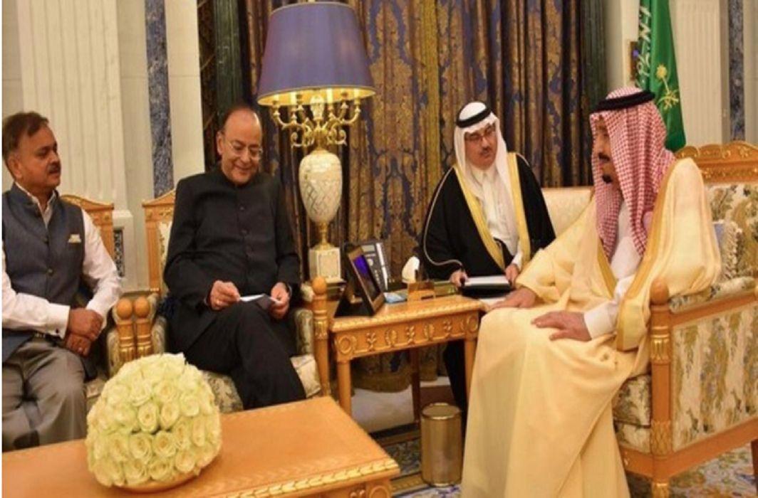 Arun Jaitley meets Saudi King Salman in Riyadh