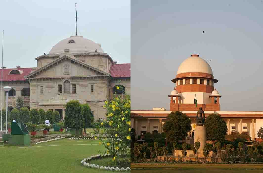(Left) Allahabad High Court and (right) Supreme Court