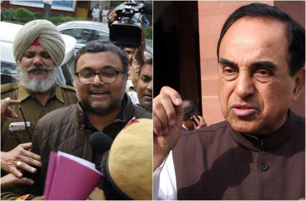 Subramanian Swamy hails court decision to send Karti to CBI remand