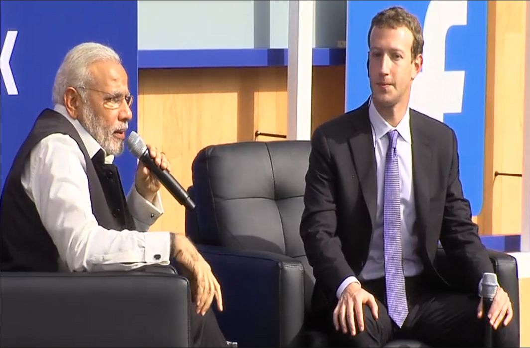 Facebook-With-Narendra-Modi
