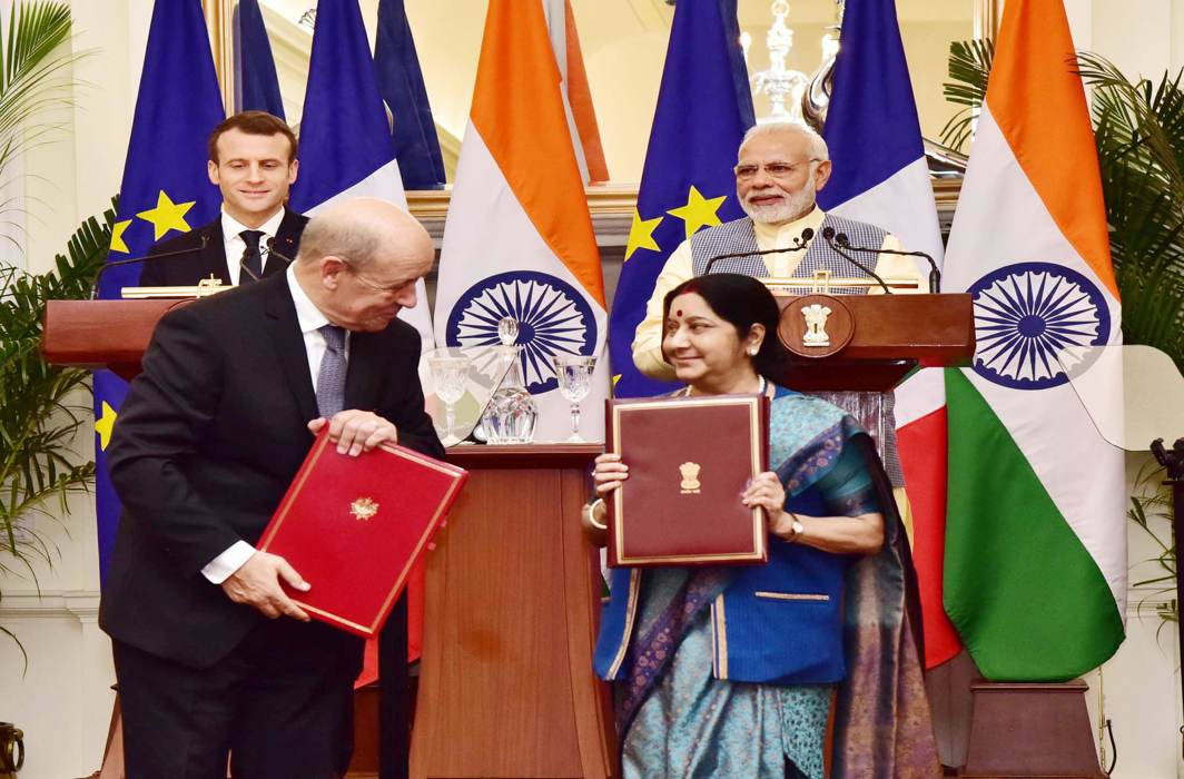 French President Emmanuel Macron, PM Modi hold talks; 14 agreements worth over Rs 1 lakh crore signed