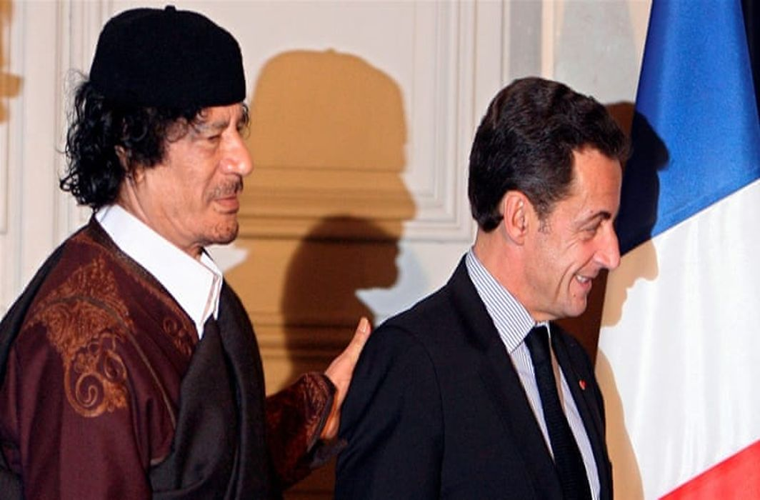 Nicholas Sarkozy detained for campaign funding by Gaddafi